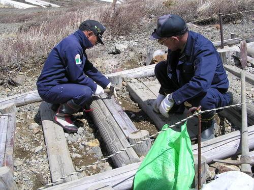 登山道の補修
